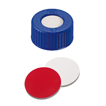 UltraClean Closure: 9mm PP Short Thread Cap, blue, centre ho