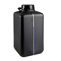 Canister 10 liter, with viewing strip